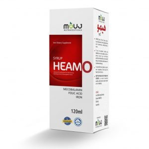 Heamo Tab (20's) Maintain Red Blood Cells & Hemoglobin Levels Iron Bisglycinate , Mecobalamin,Folic Acid