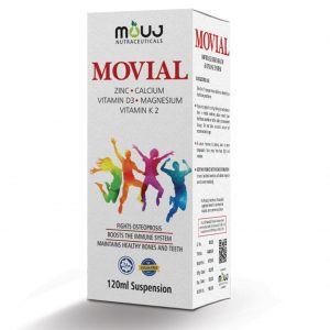 Movial Syrup (120ml) Bones Health ,Teeth,Immune System Calcium , Vitamin D3,Magnesium,Vitamin K2,Zinc