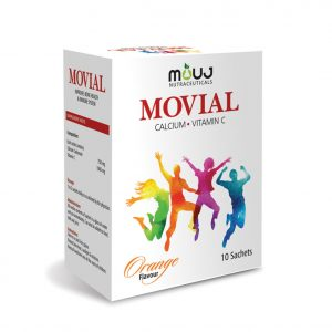 "Movial Sachets (10's) ""Healthy Bones,Teath & Immune System Calcium carbonate 750mg ,Vitamin C 1000mg"""