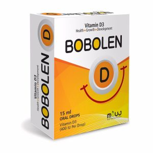 "Bobolen D Drops (15ml) ""Helthy Growth,Bones,Teeth & Mucles Vitamin D3 400IU/drop"""