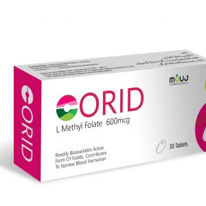 "Corid Tab (30's) ""For Treatment of Low Folate Levels L-Methyl Folate 600mcg"""