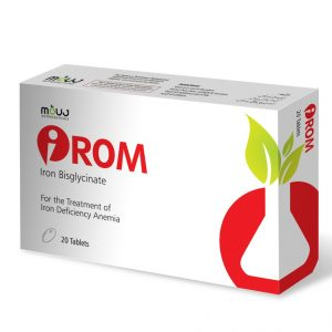 iRom Tab (20's) Maintain Red Blood Cells & Hemoglobin Levels Iron Bisglycinate